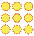 set sun flat design on a white background vector image vector image