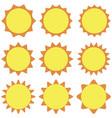set sun flat design on a white background vector image