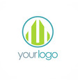 shape building business logo vector image vector image