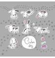 Sticker with cute cartoon dogs vector image vector image