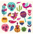 Symbols of Mexico vector image