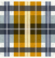 tartan plaid pattern in blue and yellow vector image vector image