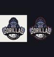 vintage baseball club colorful logo vector image