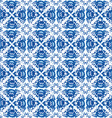 Vintage shabby Chic Seamless pattern with blue vector image vector image