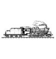 vintage train vector image vector image