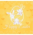 white easter bunny welcome and climber vector image vector image