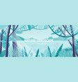 natural landscape with green foliage of exotic vector image