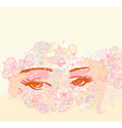 abstract floral design of beautiful human eyes vector image