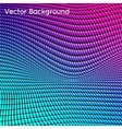 Abstract grid rainbow background vector image