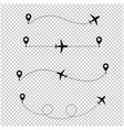 airplane in the dotted line transparent background vector image