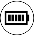 Battery level symbol - icon isolated vector image vector image