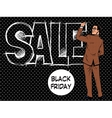 Black Friday businessman writes sale vector image vector image