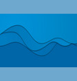 blue corporate elegant waves abstract background vector image vector image