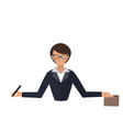 business woman office job stress work vector image vector image