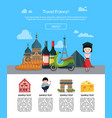 cartoon france sights page vector image vector image