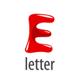 cartoon logo red letter E vector image vector image