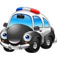 cartoon police car character vector image