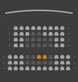 cinema seats booking online ui dark gray color vector image