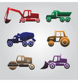 color heavy machinery cars icons eps10 vector image vector image