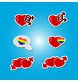 color set with Gays icons vector image vector image