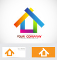 Colors real estate logo icon vector image vector image