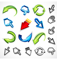 Computer arrow icons vector | Price: 1 Credit (USD $1)
