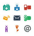 contour icons vector image vector image