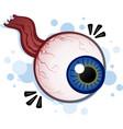 creepy floating eyeball cartoon vector image vector image