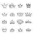crown logo hand drawn graffiti sketch and signs vector image