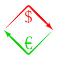 currency exchange usd eur vector image