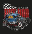 custom american vintage logo vector image vector image