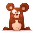 cute funny bear animal character vector image vector image