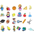 Cute School Icon Set vector image vector image