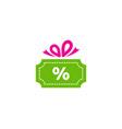discount gift logo icon design vector image vector image