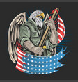eagle america usa army soldier artwork vector image vector image