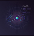 earth in deep space with technology vector image