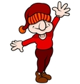 Elf With Hand Up vector image vector image
