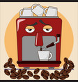 espresso coffee machine vector image