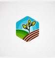 farm box logo icon element and template for vector image vector image