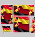 germany republic patriotic templates set vector image vector image