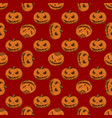 halloween seamless pattern with pumpkins vector image vector image