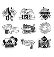handmade and craft black labels design set cartoon vector image vector image