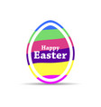 happy easter easter egg with colorful stripes vector image vector image