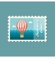 Hot Air Balloon stamp Summer Vacation vector image vector image
