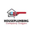 House Plumbing Design vector image vector image