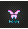 Isolated pink butterfly logo Insects vector image vector image