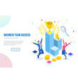 isometric business team success leadership vector image vector image