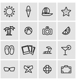 line summer icon set vector image