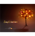 luminous hand-painted tree vector image