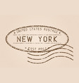 new york mail stamp old faded retro styled vector image vector image